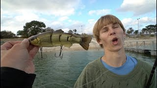 Fishing With the ″Swimbait Kid″ for Giant Bites
