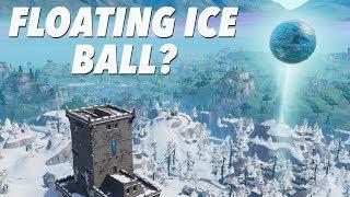 FLOATING ICE BALL above POLAR PEAK! (FORTNITE)