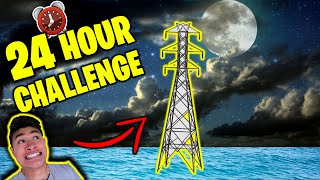 24 HOUR OVERNIGHT CHALLENGE on TOWER in Ocean!