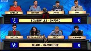 University Challenge S43E27 Somerville, Oxford vs Clare, Cambridge