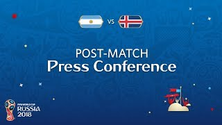 FIFA World Cup™ 2018: Argentina - Iceland: Post Match Press Confernence