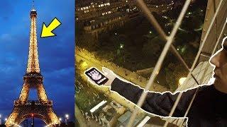 PHONE FLIP OFF EIFFEL TOWER
