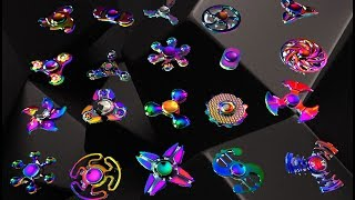 Top 20 RAINBOW FIDGET SPINNERS! THE BEST COLORFUL EDC HAND SPINNER