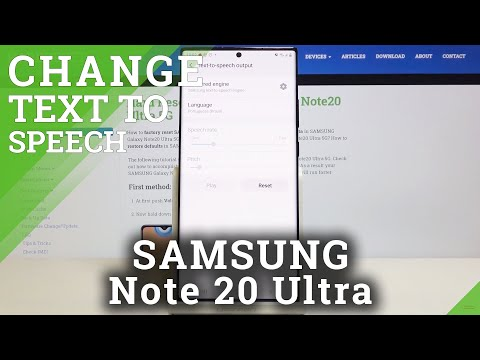 How to Personalize Text to Speech in SAMSUNG Galaxy Note 20 Ultra – Convert Text