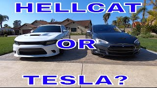 HELLCAT OR TESLA WHICH WOULD YOU TAKE?