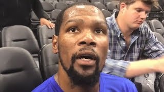 Kevin Durant Is Speechless Hearing Gregg Popovich's Wife Passed Away