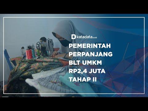 Pemerintah Perpanjang BLT UMKM Rp2,4 Juta Tahap II | Katadata Indonesia