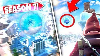 *NEW* FLOATING ICE BALL HAS STARTED *MOVING* ACROSS THE FORTNITE MAP! SEASON 7 UPDATE!: BR