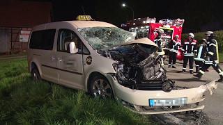 Unfall in Bad Arolsen: Taxifahrer kam ums Leben, acht Personen schwer verletzt