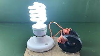 Free Energy Using Magnet With Light Bulb 220V