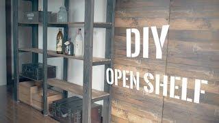 [DIY]2×4材と杉板でオープンシェルフを作ってみた! Make an open shelf with 2x4 material and cedar board