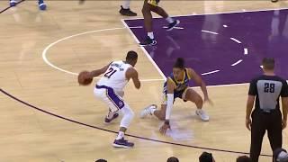Zach Norvell Jr. Drops Jordan Poole and Lakers Bench Goes Wild | Lakers vs. Warriors NBA Preseason