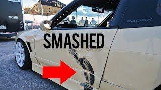 CRASHED MY S13... BAD