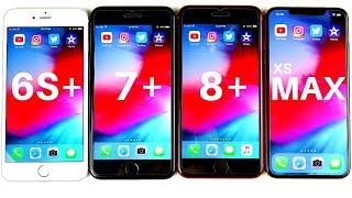 iPhone 6S Plus vs iPhone 7 Plus vs iPhone 8 Plus vs iPhone XS Max Speed Test!
