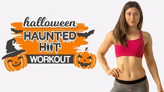 10 Minute Total Body HIIT Workout: Haunted Halloween HIIT, No Equipment, At Home