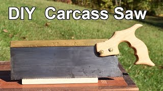 How to Make a Carcass Saw Backsaw - Free Handle Template