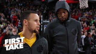 Warriors at risk vs. Rockets, Nuggets in NBA playoffs without home court - Stephen A. | First Take