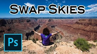 Adobe Photoshop Tutorial: How To SWAP SKIES In Your Landscape Photos