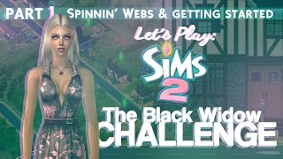 Let's Play The Sims 2: The Black Widow Challenge [Part 1].