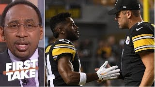 Stephen A. takes issue with Ben Roethlisberger not being criticized like Antonio Brown   First Take