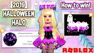 How To Win The BRAND NEW 2019 HALLOWEEN HALO In Royale High! Roblox Royale High Halo Update