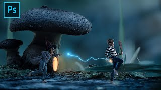 I Stole a Broom from the Forest Witch | Photoshop Tutorial