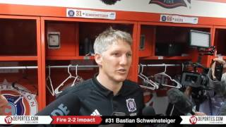 Bastian Schweinsteiger first game Chicago Fire 2-2 Montreal Impact