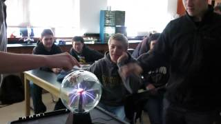 Honors student shocked by plasma ball
