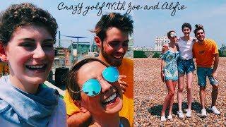 CRAZY GOLF WITH ZOE & ALFIE | Vlog