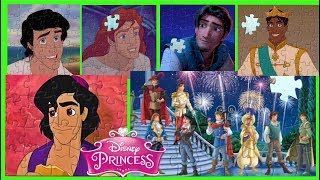 ALL Disney Princes Jigsaw Puzzle Games Activity for kids