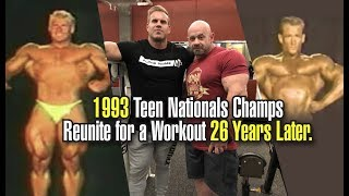 JAY CUTLER & BRANCH WARREN REUNITE FOR A WORKOUT 26 YEARS AFTER THE TEEN NATIONALS.