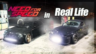 Attempting Night Street Drifting from Need for Speed in REAL LIFE (Do not try)
