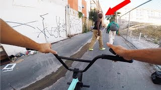 RIDING BMX IN LA COMPTON GANG ZONES (CRIPS & BLOODS)