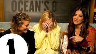 ″That's the sign for SHUT UP″ Ocean's 8's Sandra Bullock, Cate Blanchett & Sarah Paulson cause chaos