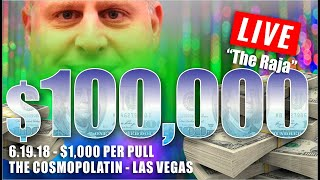 ✦►BIGGEST HIGH LIMIT SLOT PLAY on ◄✦ $100,000 at $1000 Spin ✦FILMED LIVE at the Cosmo!!!✦