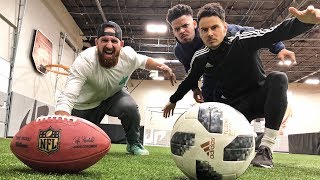 Football vs Soccer Trick Shots   Dude Perfect