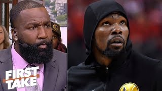 KD was pressured by teammates, coaching staff to play Game 5 – Kendrick Perkins | First Take