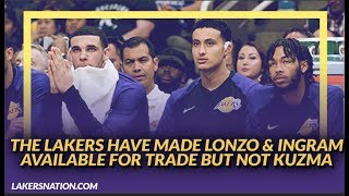 Lakers Rumors: Lakers Have Made Lonzo Ball & Brandon Ingram Available for Trade, Won't Trade Kuzma