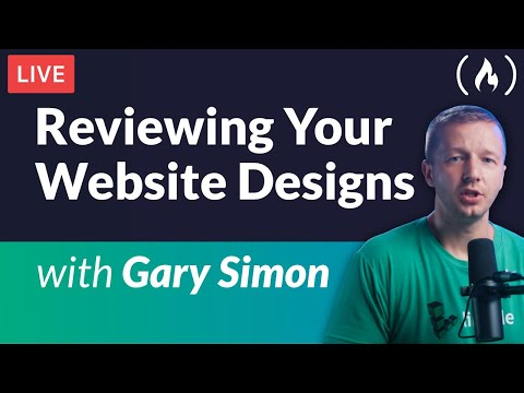 Reviewing Your Website Designs Live - with Gary Simon