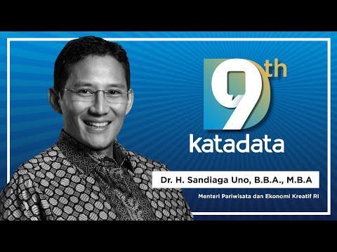 HUT Katadata-9:  Menteri Pariwisata dan Ekonomi Kreatif RI, Bapak Dr. H. Sandiaga Uno, B.B.A., M.B.A