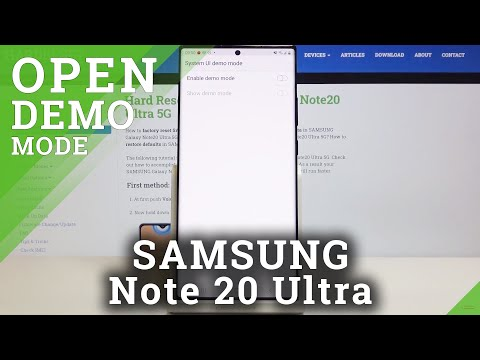 How to Activate Demo Mode in SAMSUNG Galaxy Note 20 Ultra – Enter Floor ModeMode