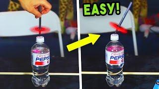 ULTIMATE FIDGET SPINNER TRICKS! (FLOATING PEN & BOTTLE TRICK)