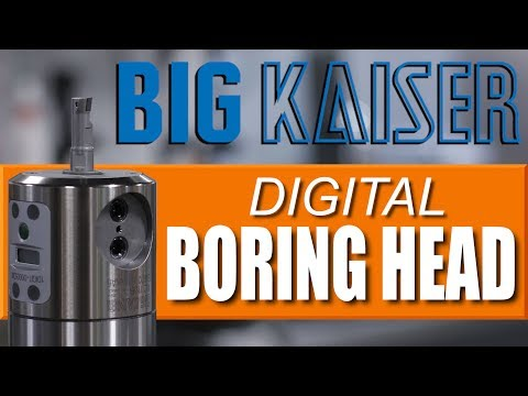 BIG KAISER Digital Boring Head!  Amazing CNC Tool!