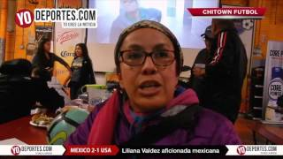 Chitown Chicago festeja el 2-1 Mexico vs Estados Unidos