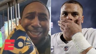 Stephen A. trolls Cowboys fans after Dallas' playoff loss to the Rams