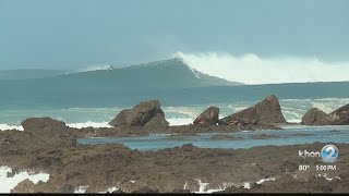 High surf leads to dozens of rescues off Oahu's north, west shores