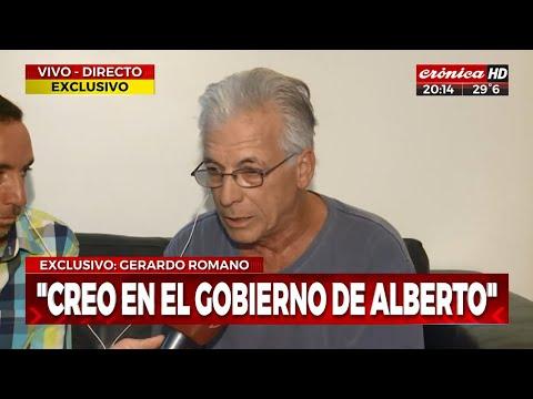 """Gerardo Romano: """"Creo en el gobierno de Alberto"""""""
