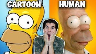 Cartoons As Humans!