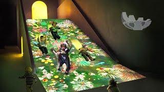 Colorful Fun Slide at Singapore Art Science Museum