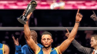 NBA LIVE 18 WARRIORS VS CAVALIERS FINALS GAMEPLAY FROM EA PLAY IN HOLLYWOOD!